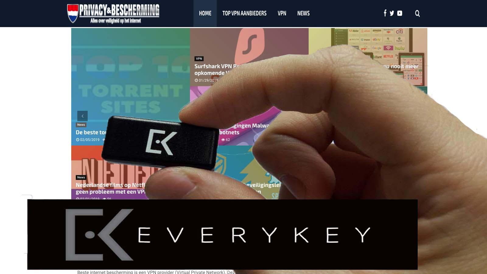 Everykey wachtwoord beveiligen